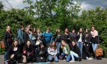 Gruppenbild beim Besuch der Daimler-AG